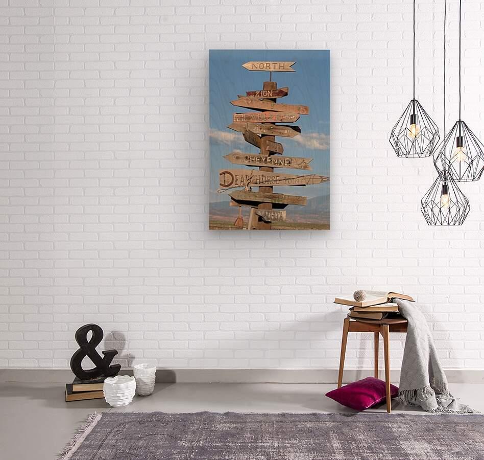 Crossroads at Moab  Wood print