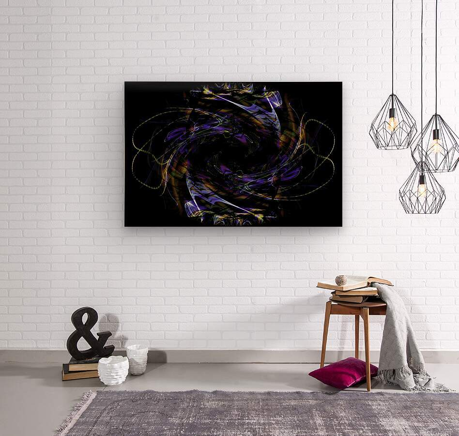 FLOWER OF FLUX  Wood print