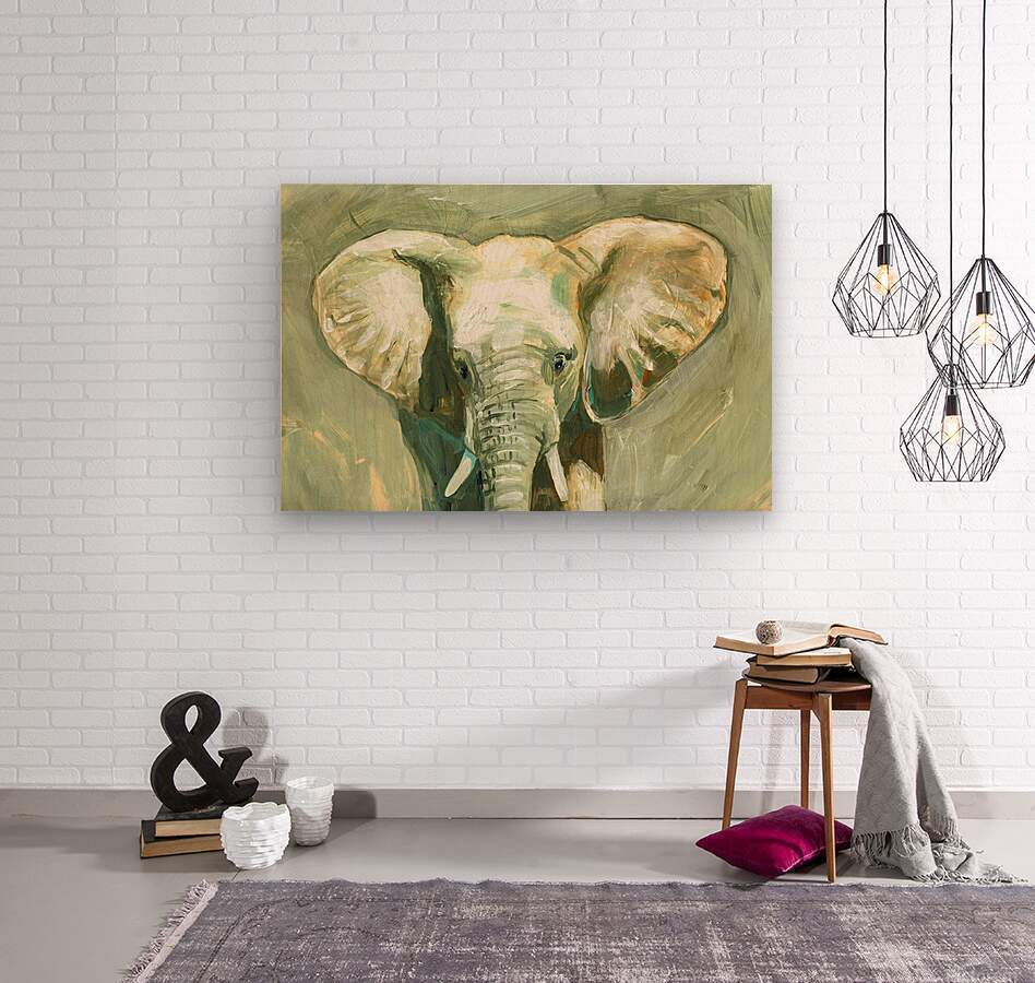 Young Elephant   Wood print
