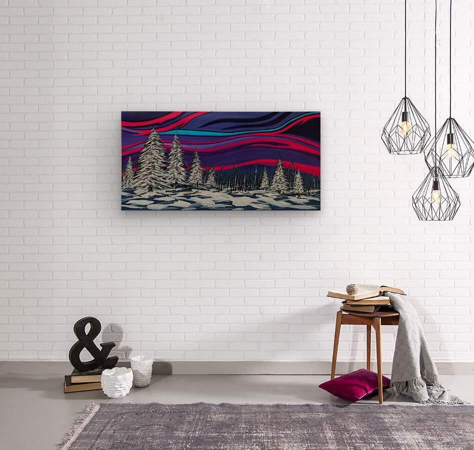 Snowy Trees Chinook Art IMG_0180  Wood print