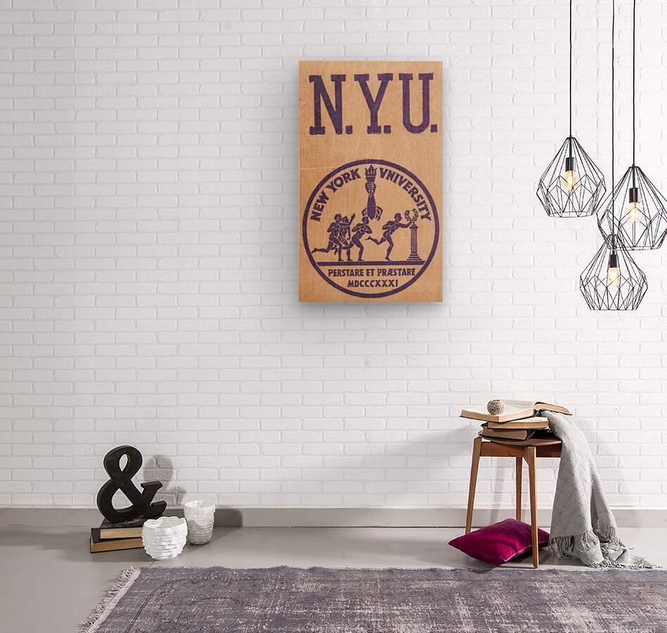1950s NYU Art  Wood print