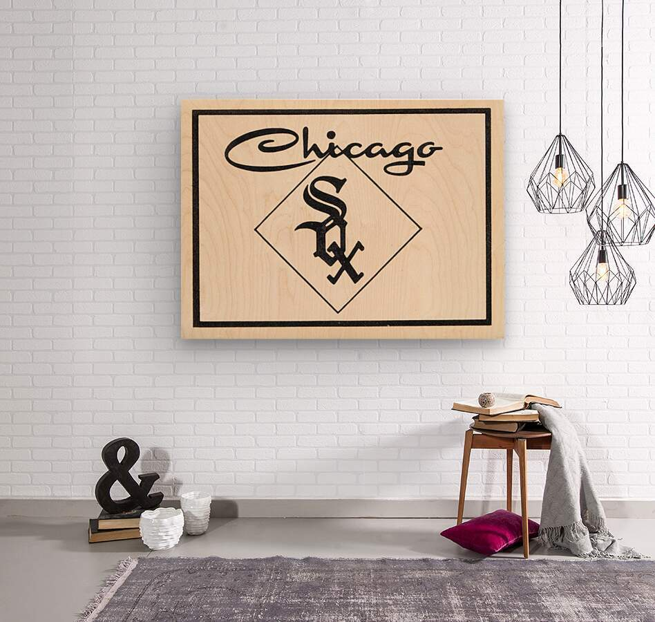 1961 Chicago White Sox Art  Wood print