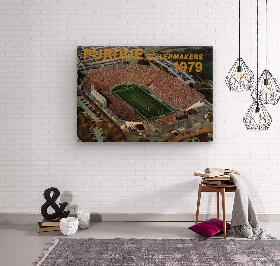 1979 Purdue Ross-Ade Stadium Art  Wood print