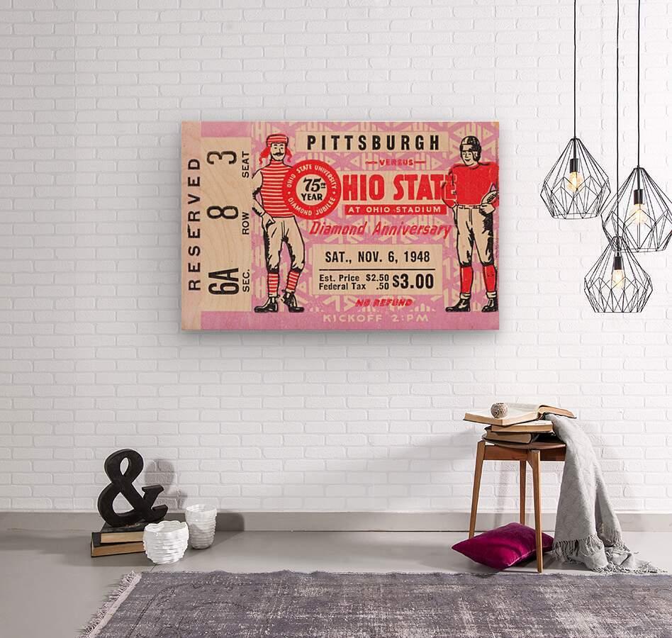 1948 Ohio State vs. Pittsburgh   Wood print