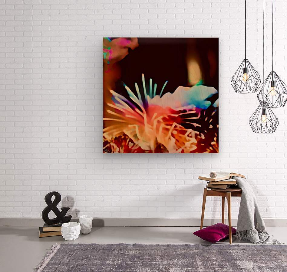 Anemone in the Luminescence Seas of My Soul  Wood print