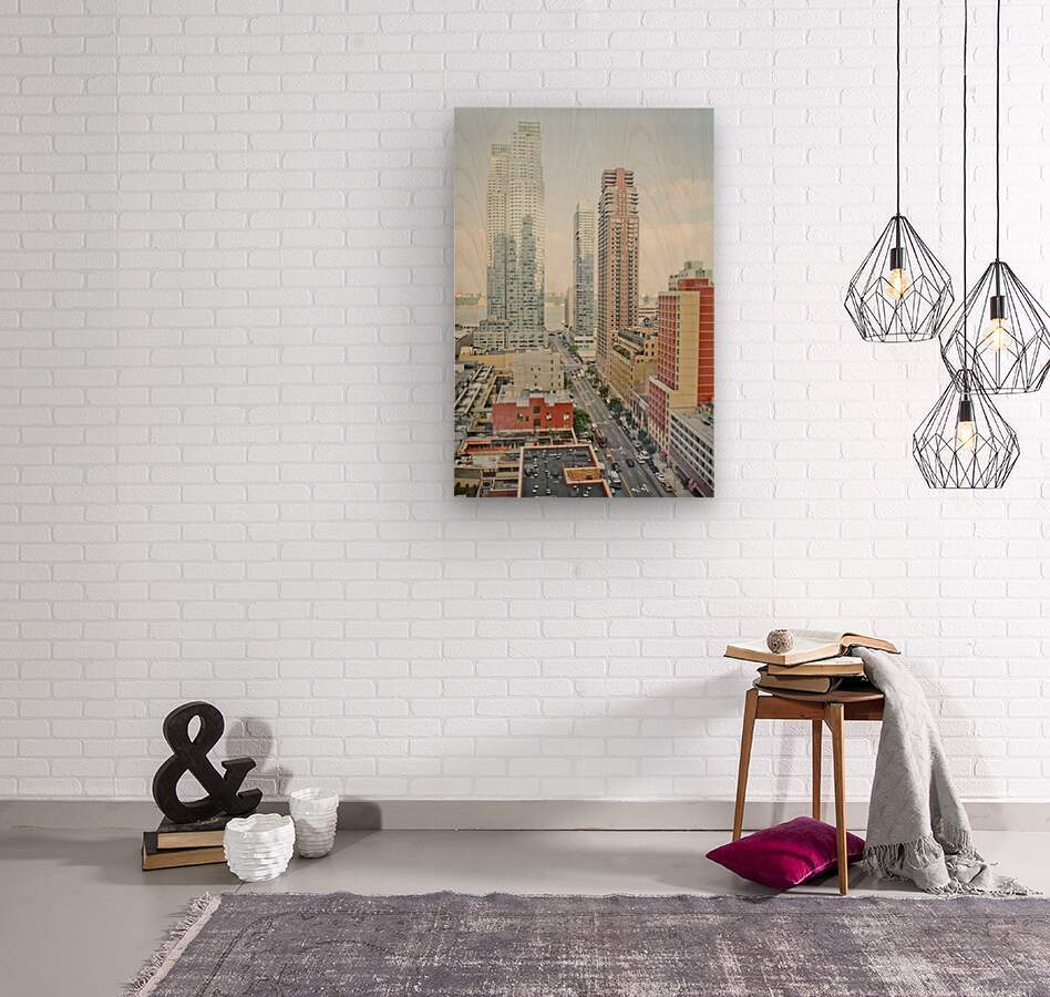 Architectural image of Hells kitchen Manhatten New york USA 2011  Wood print