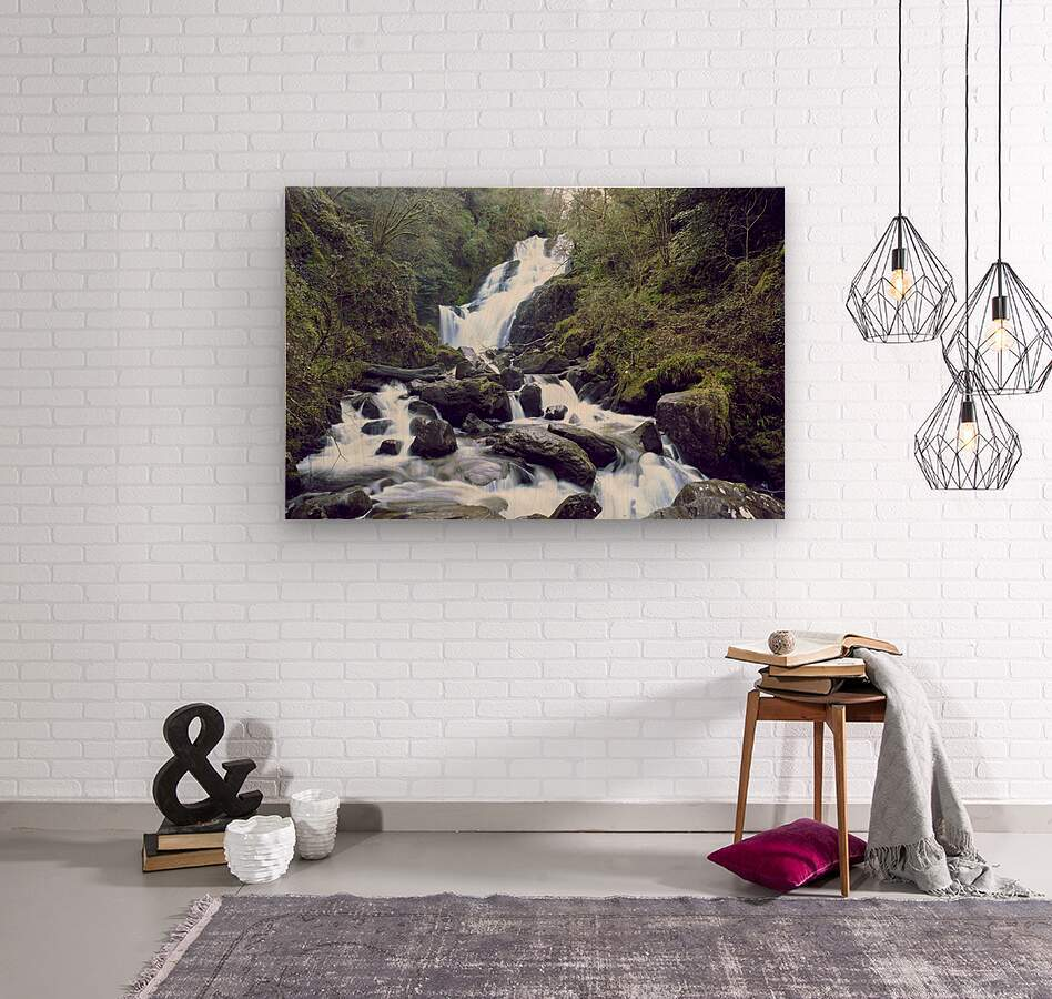 Torc waterfall in Killarney National Park  Wood print