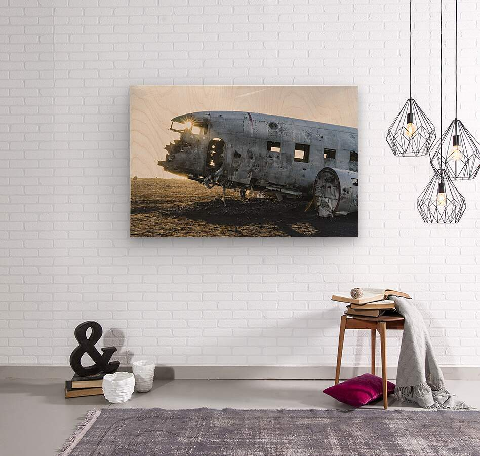 Solheimasandur Plane Crash Southern Region Iceland  Wood print