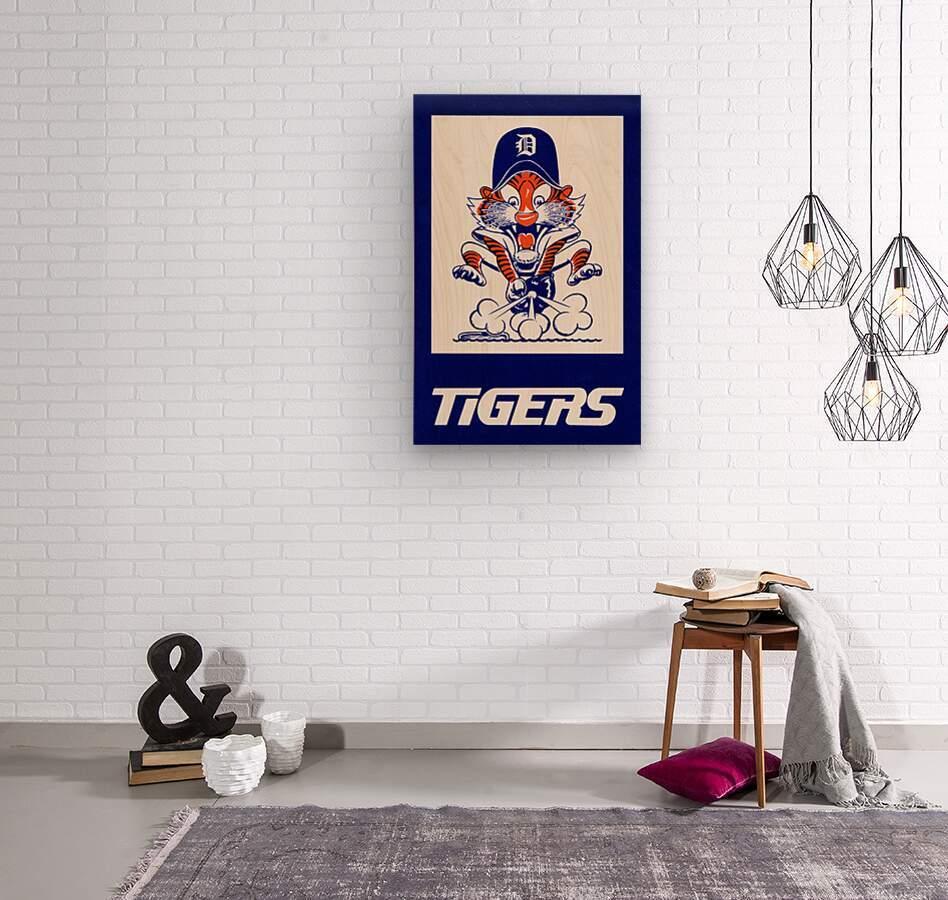 1972 Detroit Tigers Art  Wood print