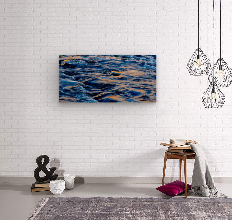 Flowing reflections 5  Wood print