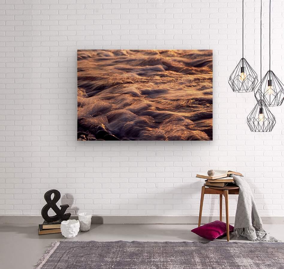 Lake Erie waves 6  Wood print
