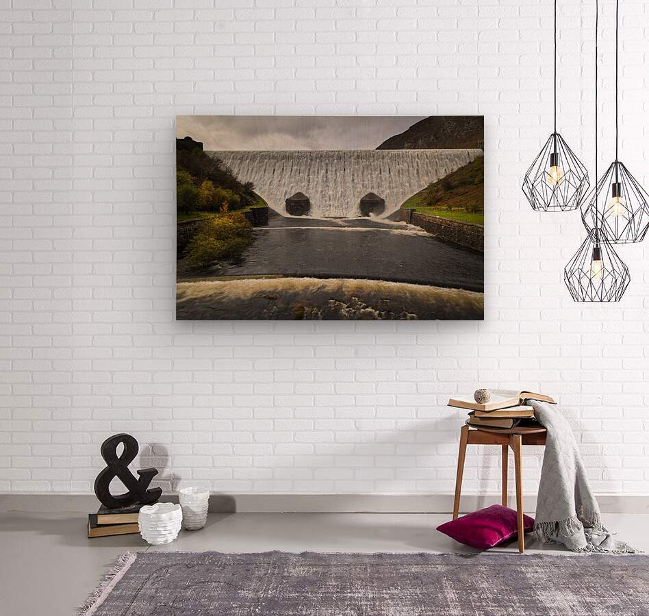 The Elan Valley dam  Wood print