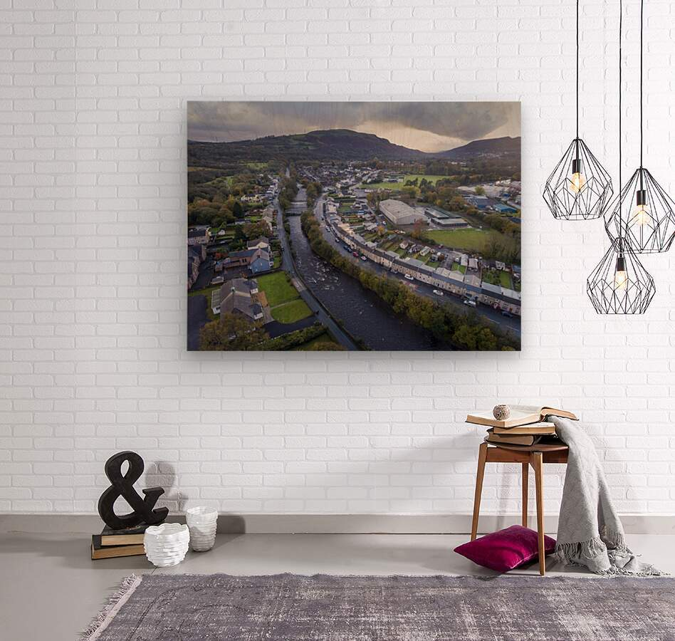 The river Tawe in Ystradgynlais  Wood print