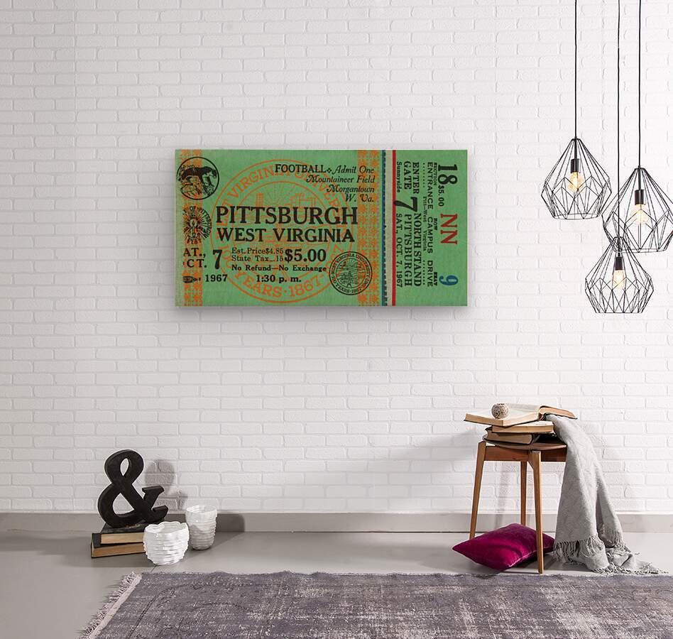1967 West Virginia vs. Pitt  Wood print