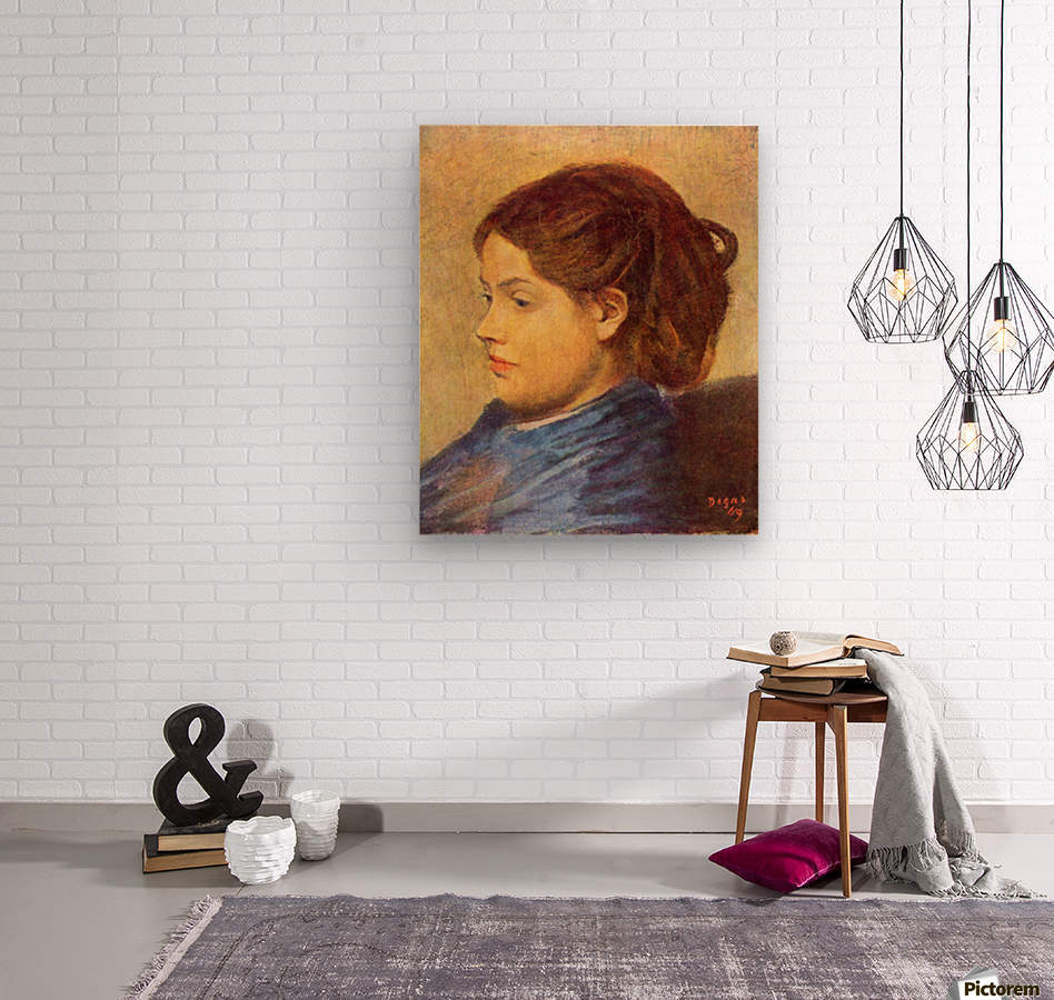 Portrait of Mademoiselle Dobigny by Degas  Wood print