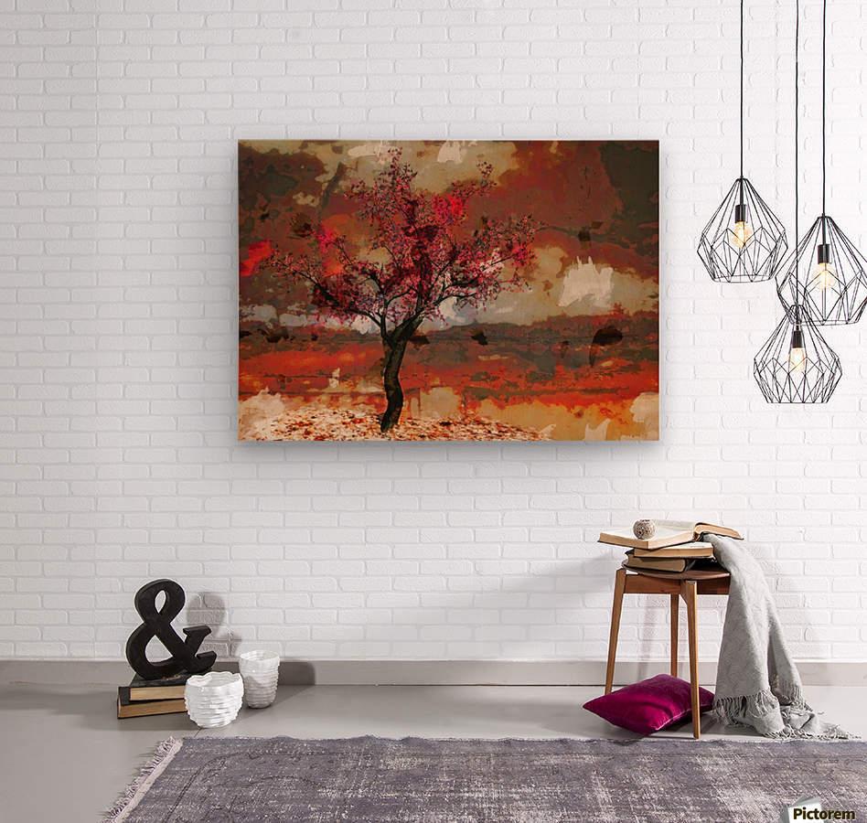Summer cherry tree  Wood print