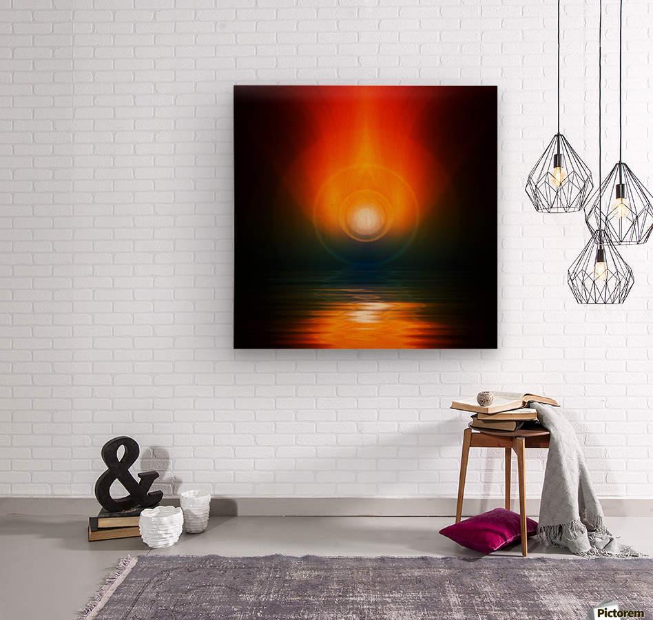 Life energy  Wood print