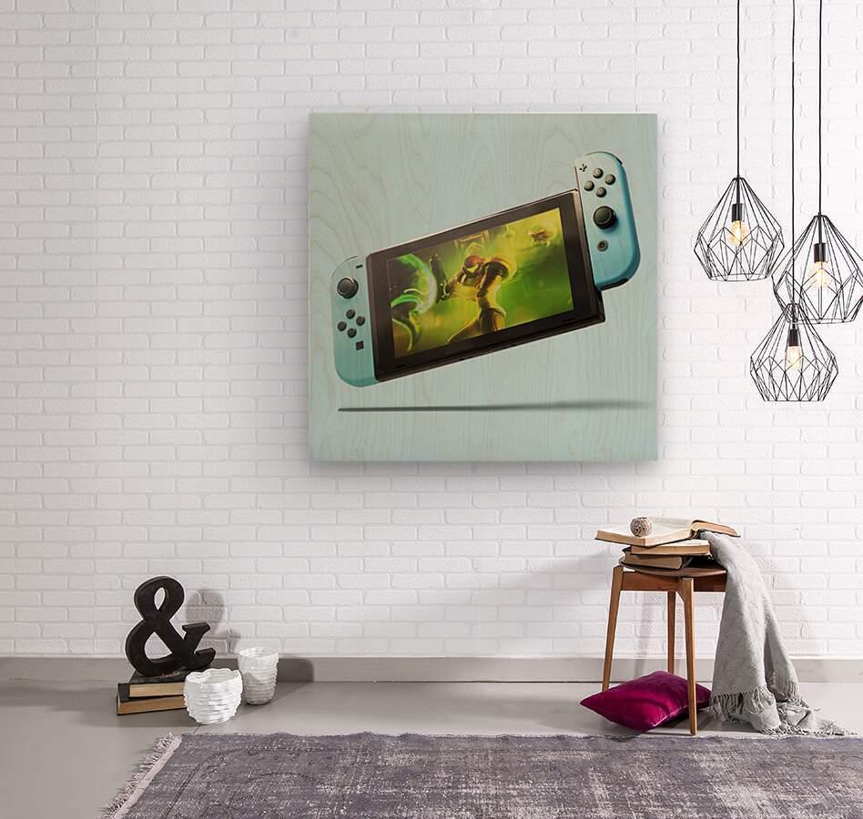 Nintendo Switch Blue  Wood print
