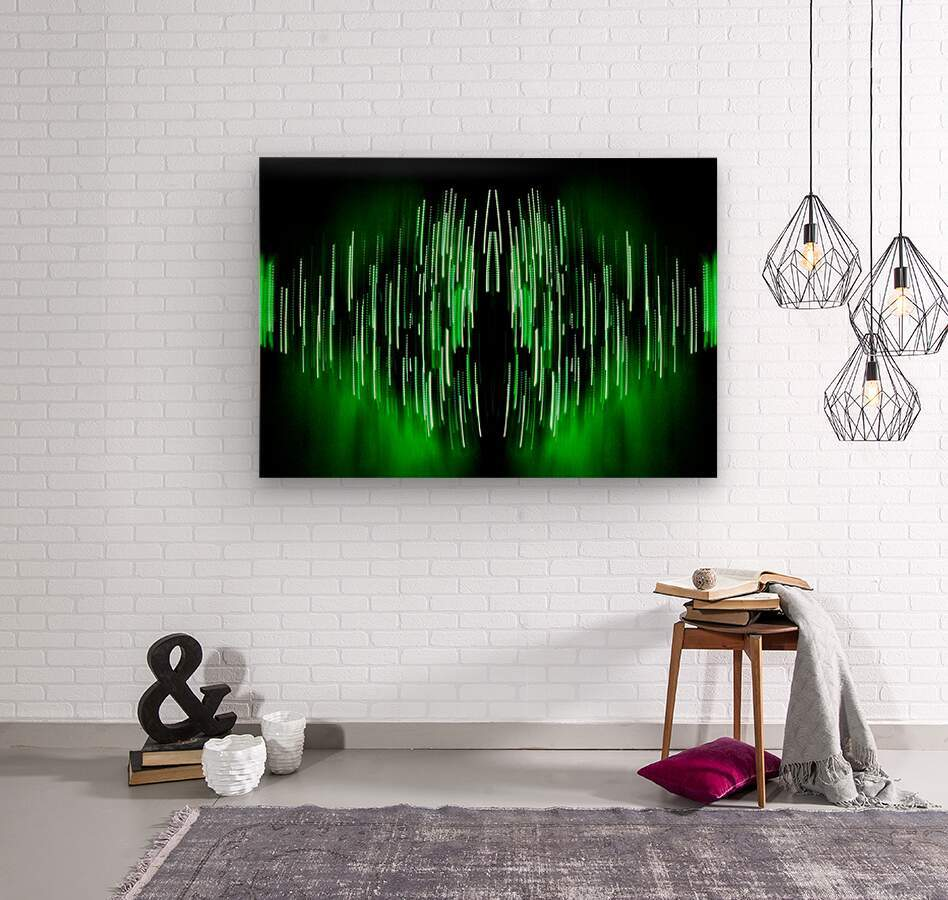Lights45  Wood print