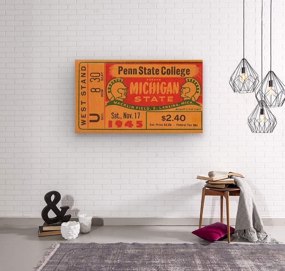 1945 Michigan State vs. Penn State  Wood print
