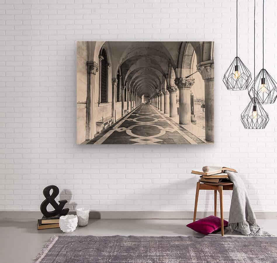 Doge's Palace archway in Venice, Italy  Wood print