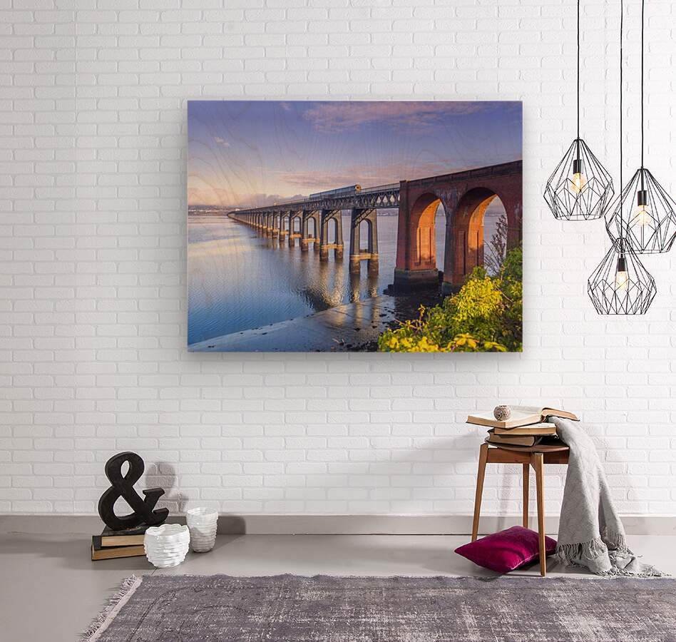 Tay Rail Bridge, Dundee, Scotland  Wood print