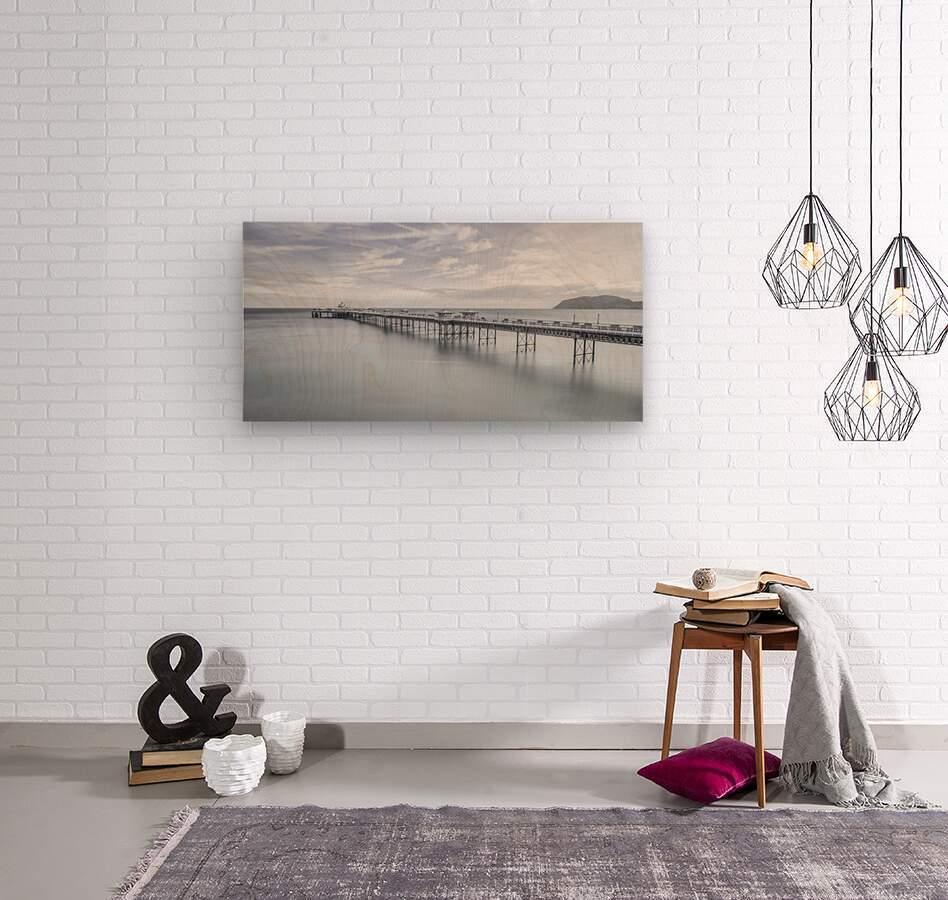 Llandudno Pier, North Wales  Wood print