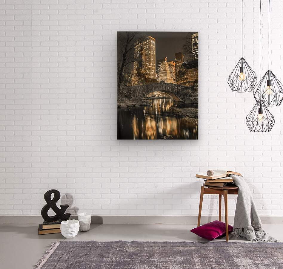 Evening view of Central Park in New York City  Impression sur bois