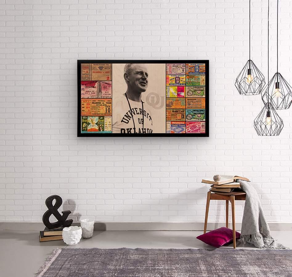 Oklahoma Football Bud Wilkinson Ticket Collage  Wood print