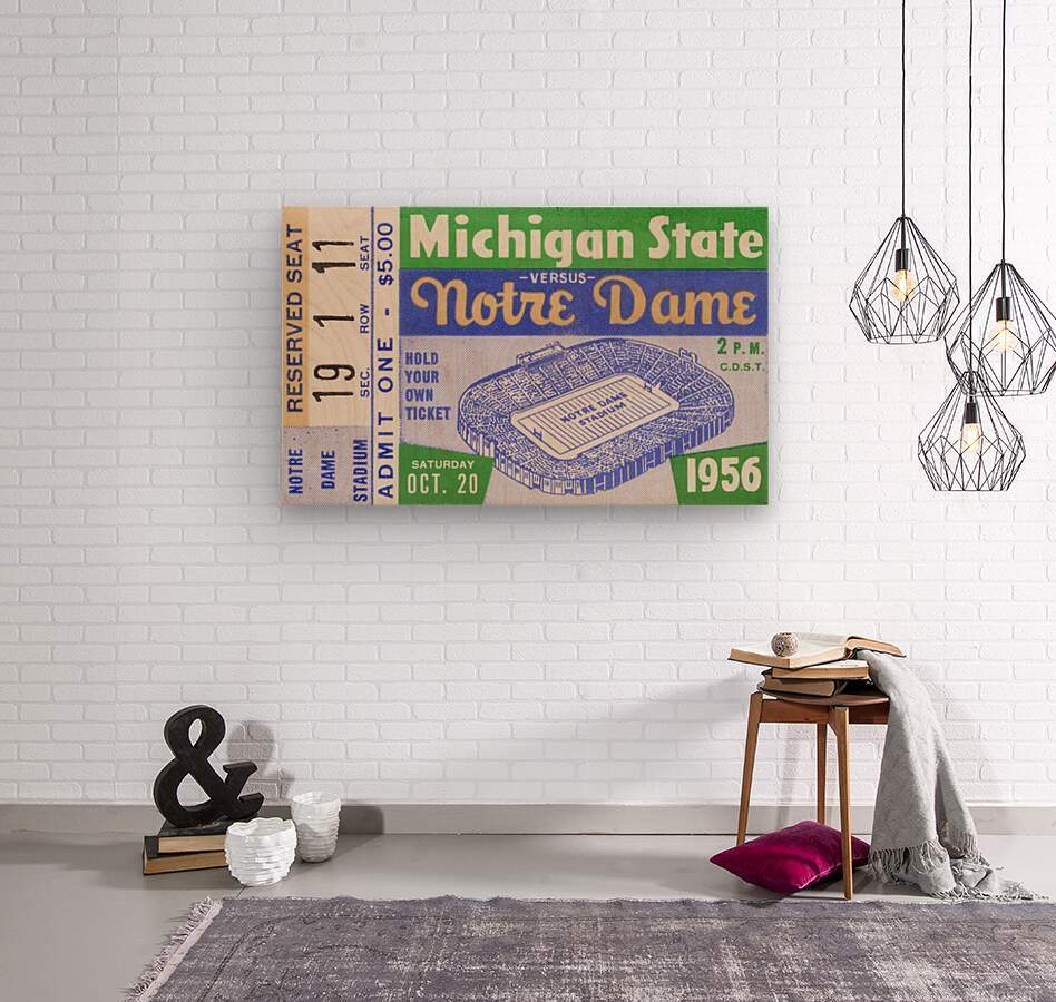 1956 Michigan State vs. Notre Dame  Wood print