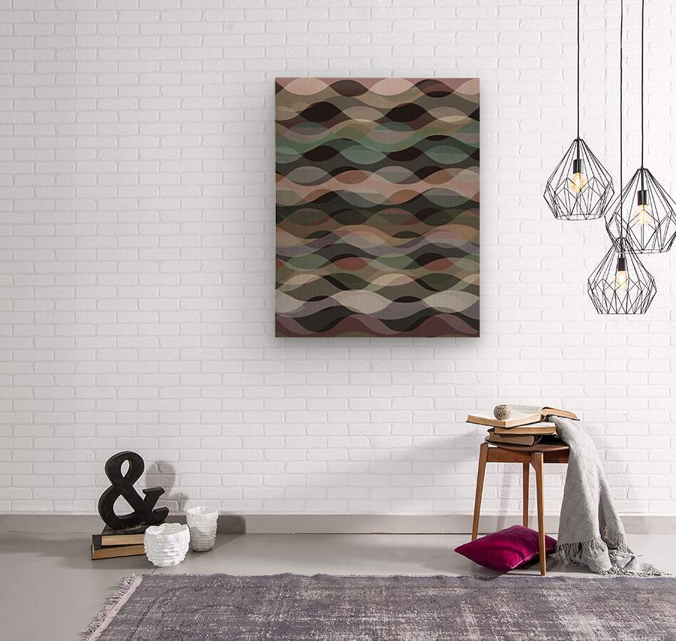 Abstract Composition 1127  Wood print