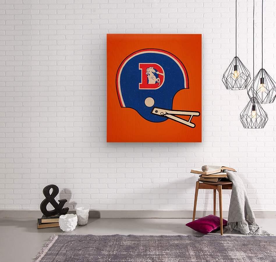1982 Denver Broncos Football Helmet Art  Wood print