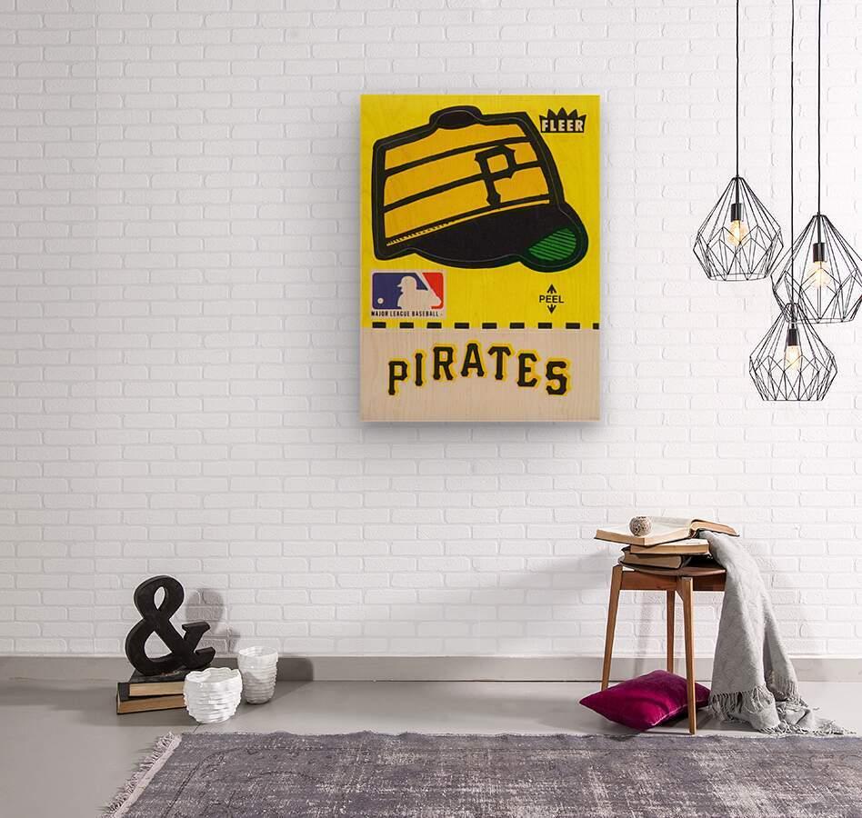 1981 Pittsburgh Pirate Fleer Decal Art  Wood print