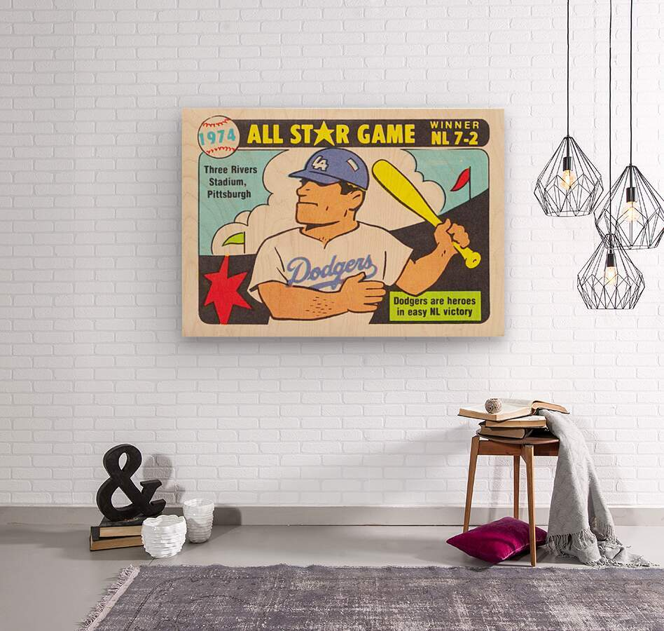 1974 Baseball All-Star Game  Wood print