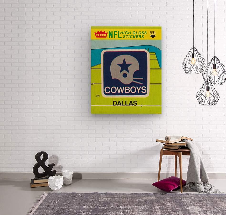 1981 Dallas Cowboys Fleer Decal Art  Wood print