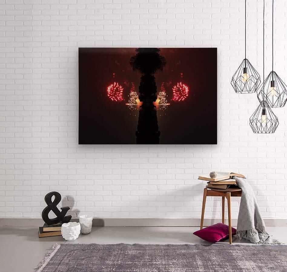 Lights54  Wood print