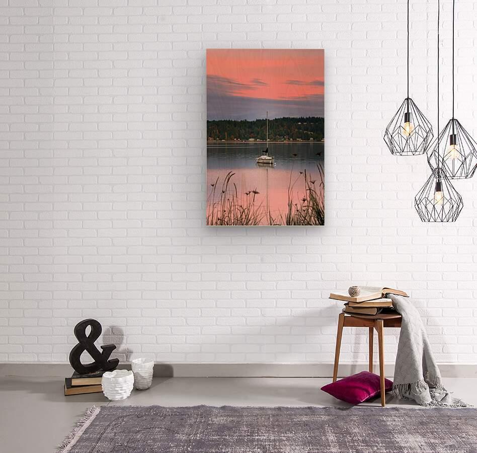 Rosy Retreat   Wood print