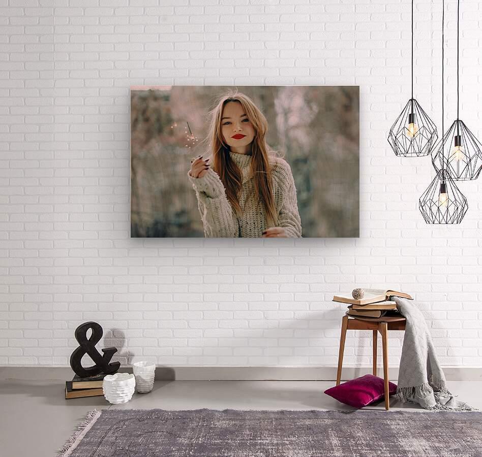Asia date  Wood print