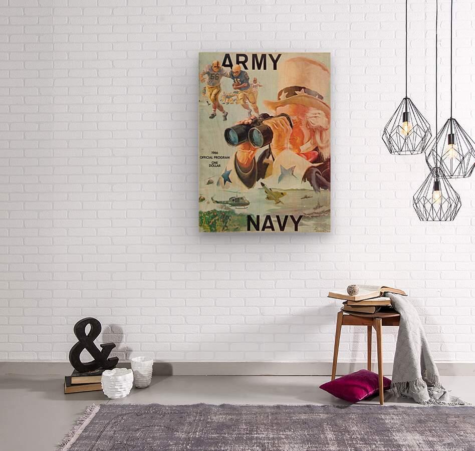 1966 Army vs. Navy Football Program  Wood print