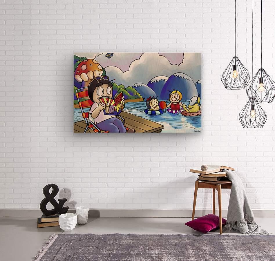 A Dream of Summer - Swim  Wood print