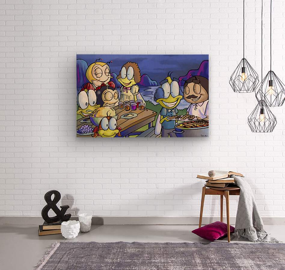 A Dream of Summer - Family  Wood print