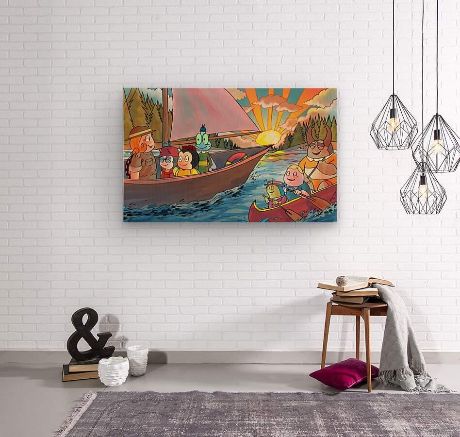 Summer Camp - Sailing  Wood print