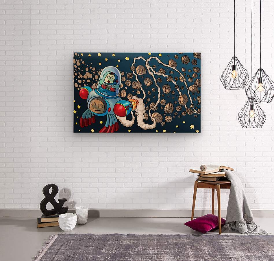 Buzzing Around the Solar System  Wood print