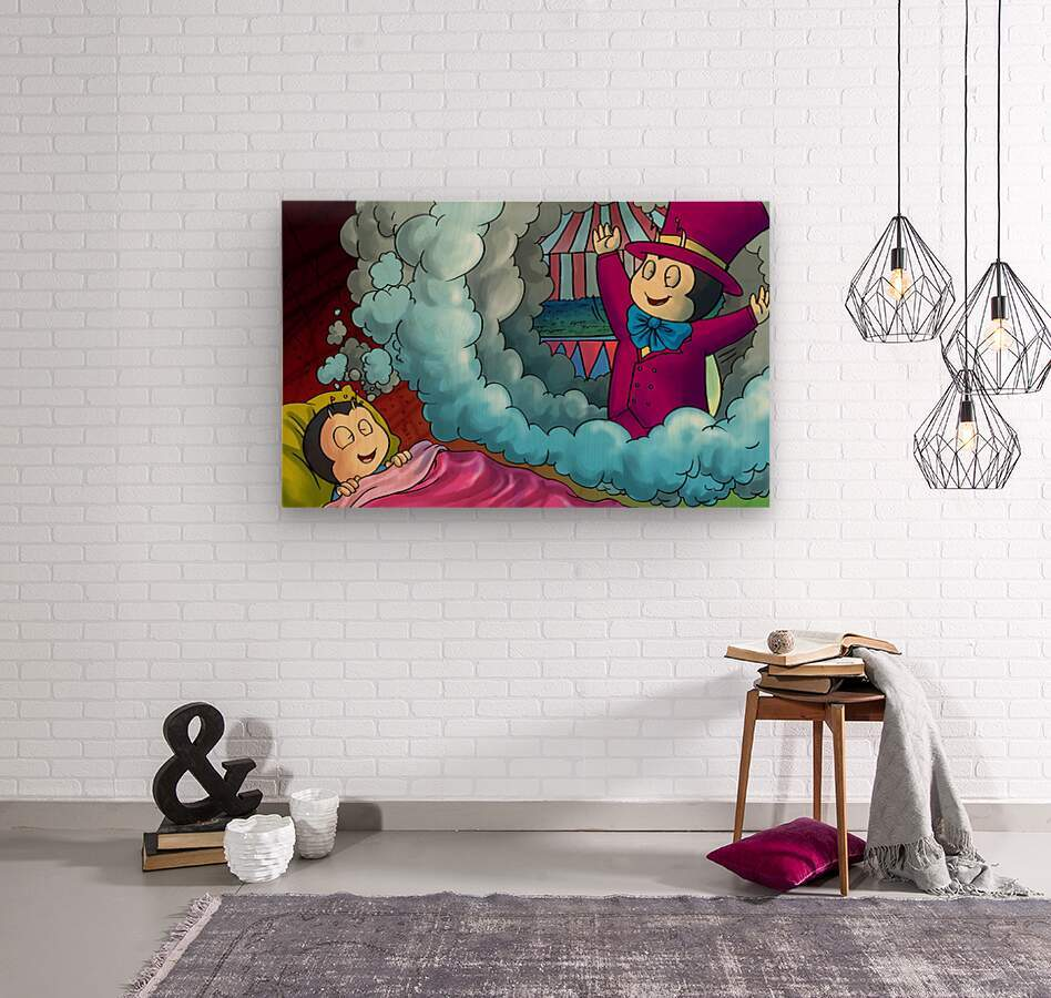 Circus Dreams  Wood print