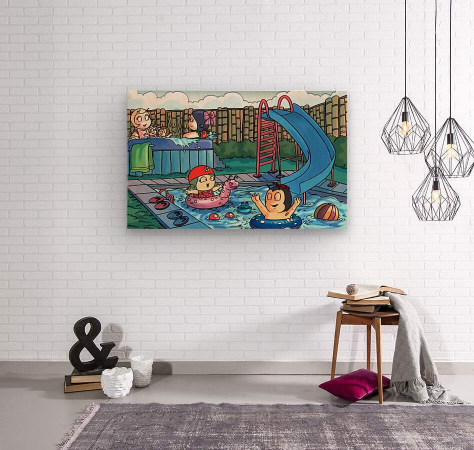 Pool Party - Bugville Critters  Wood print