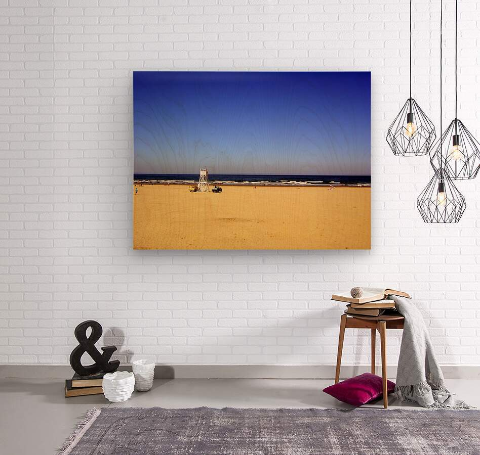 Oregon Coast   Golden Sands  Wood print