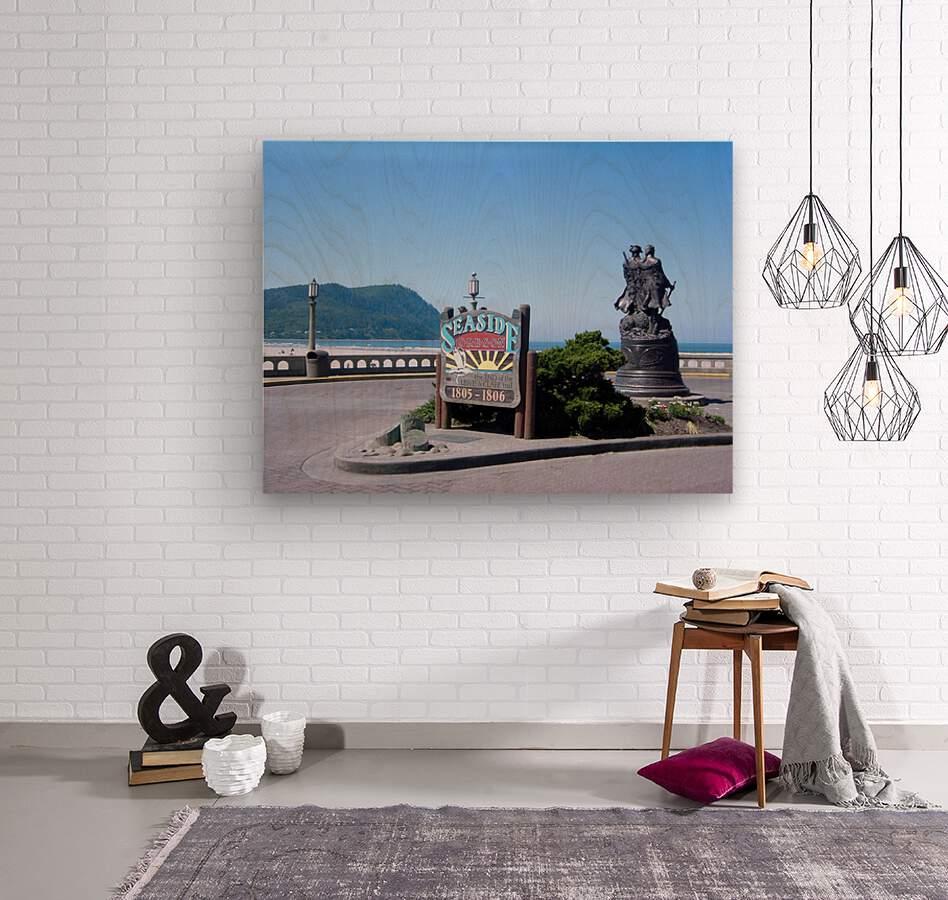 Seaside Oregon   Snapshot in Time  Wood print