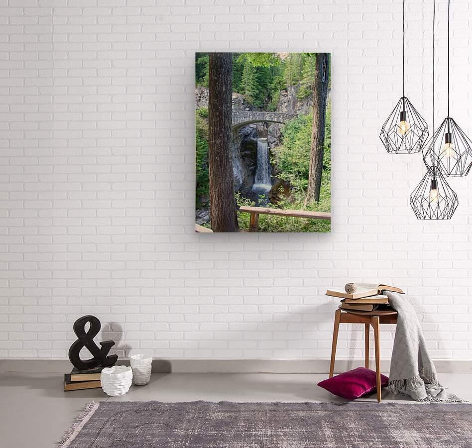 Christine Falls at Mount Rainier Pacific Northwest  Wood print