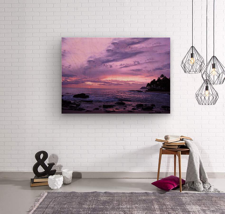 Purple Skies Over Hawaii  Wood print