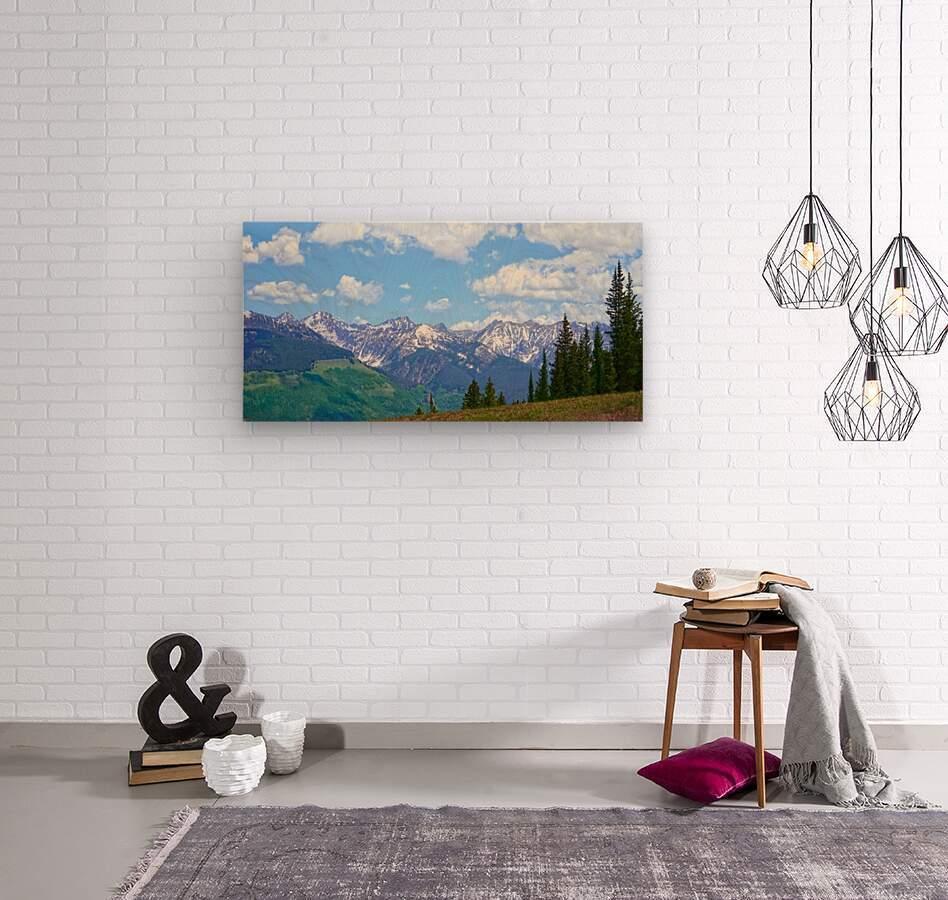 Rocky Mountain High Colorado Panorama   Wood print